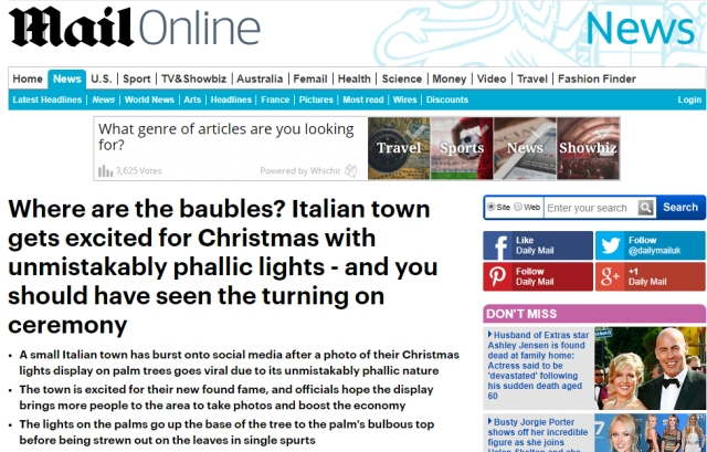 Dailymail Phallic Lights