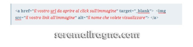 Immagine ipertestuale wordpress