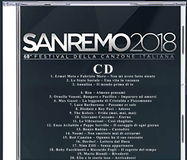 Cd Sanremo 2018 mp3