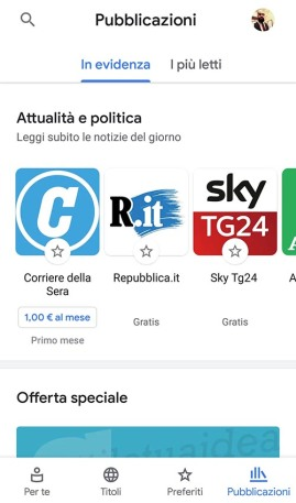 Google News Nuova Interfaccia