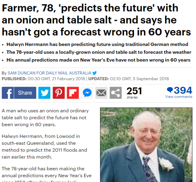 Predicts the future